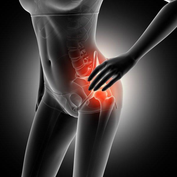 Fortes dores na região da coluna vertebral